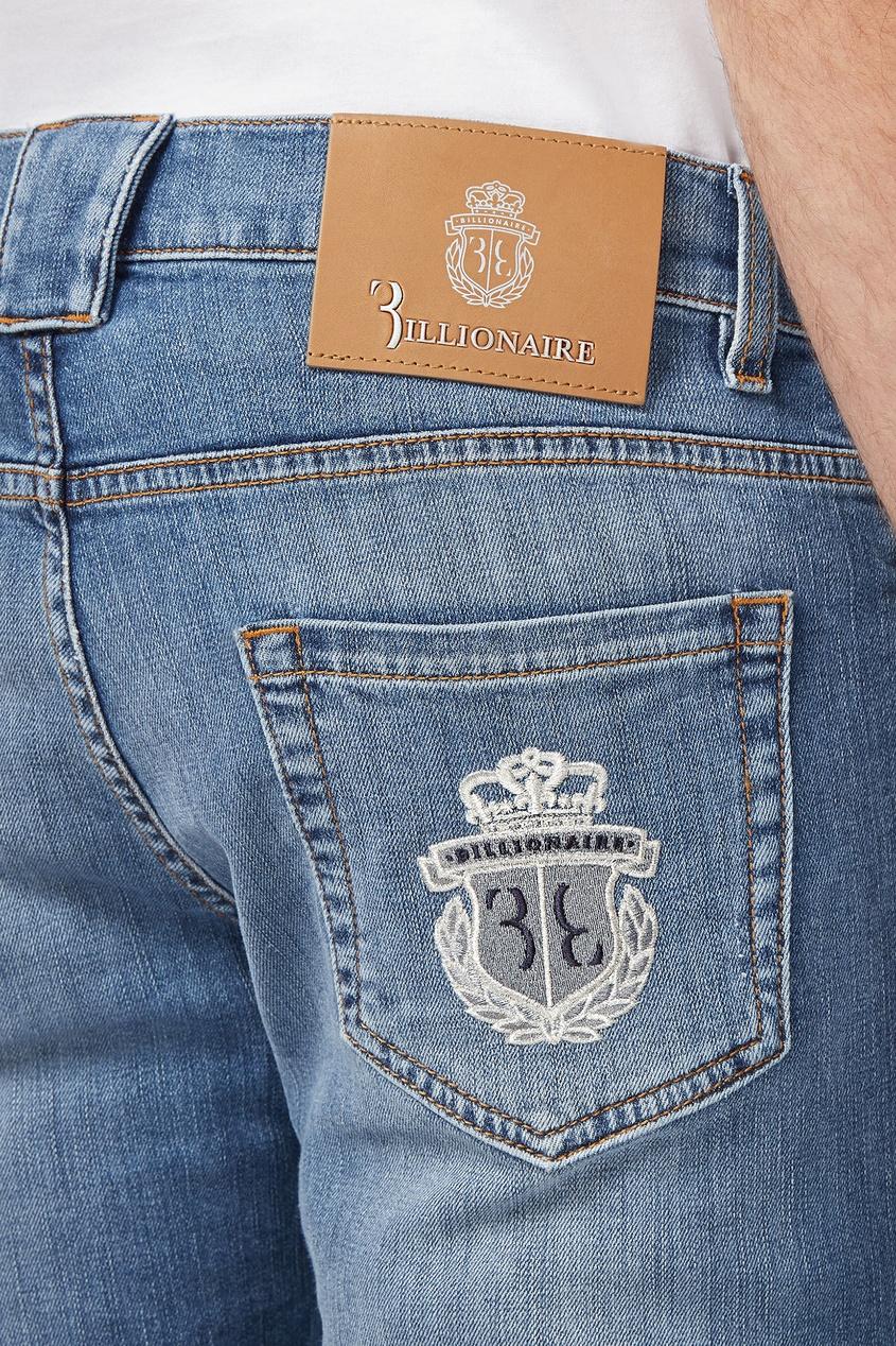 мужские джинсы с низкой посадкой billionaire, синие