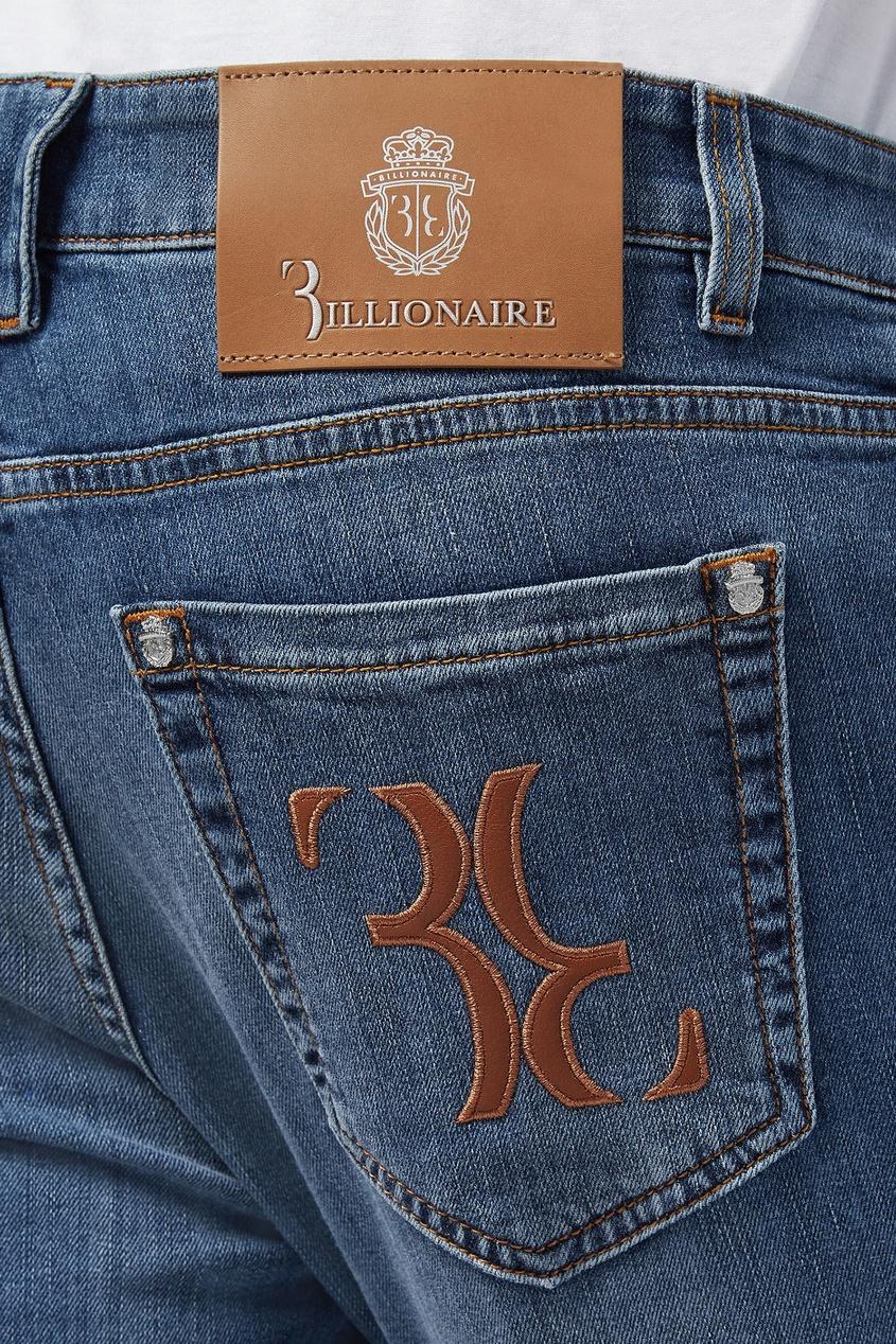 мужские прямые джинсы billionaire, синие