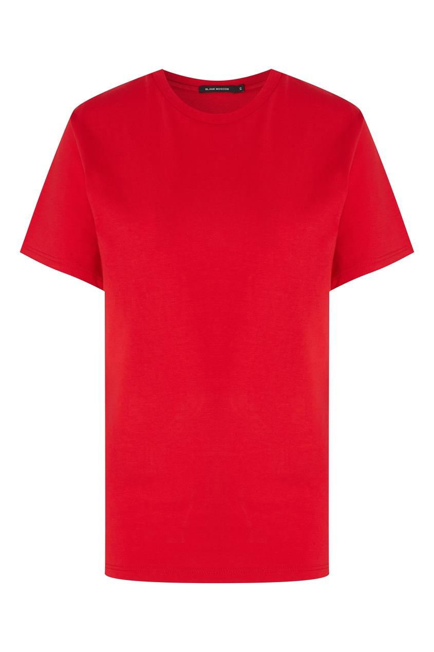 Купить Однотонная красная футболка от BLANK.MOSCOW красного цвета