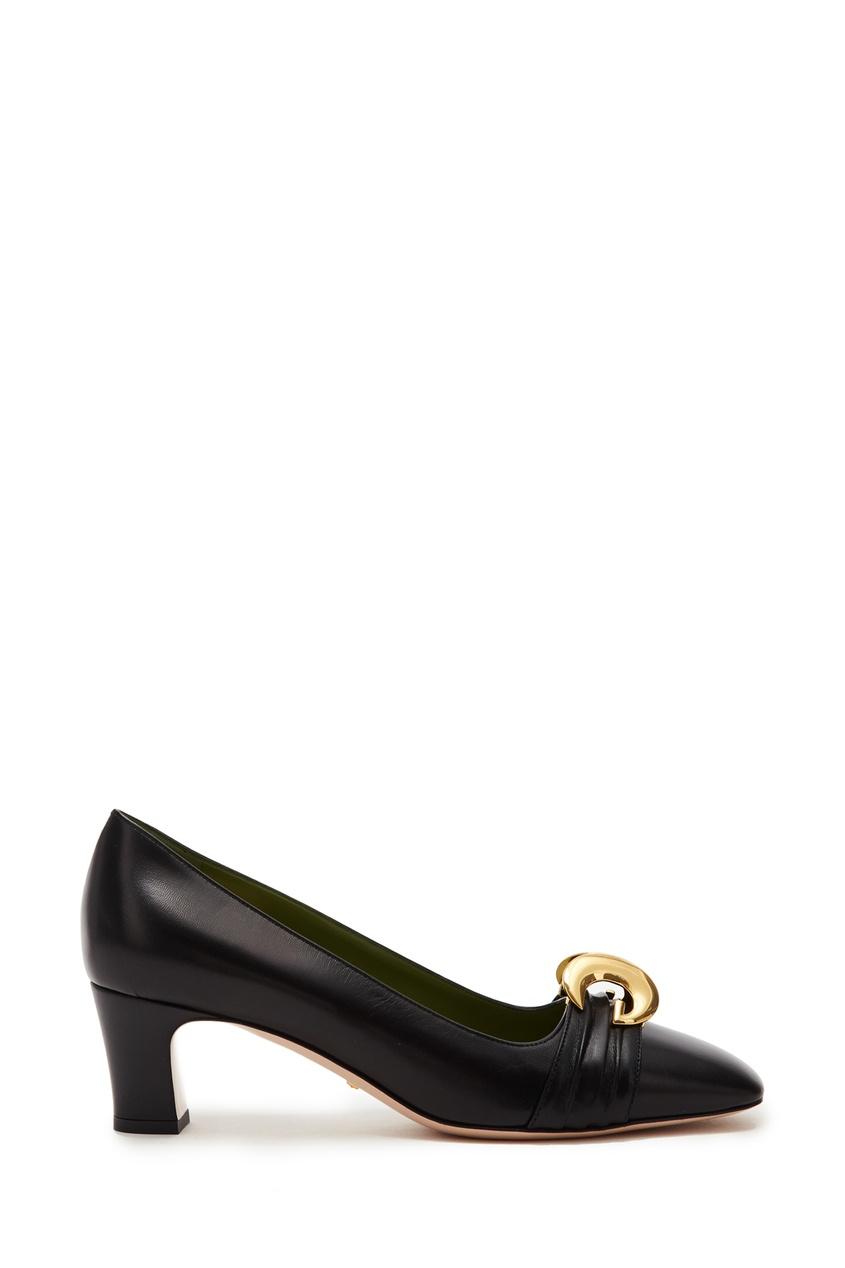 Черные туфли с полумесяцами GG от Gucci