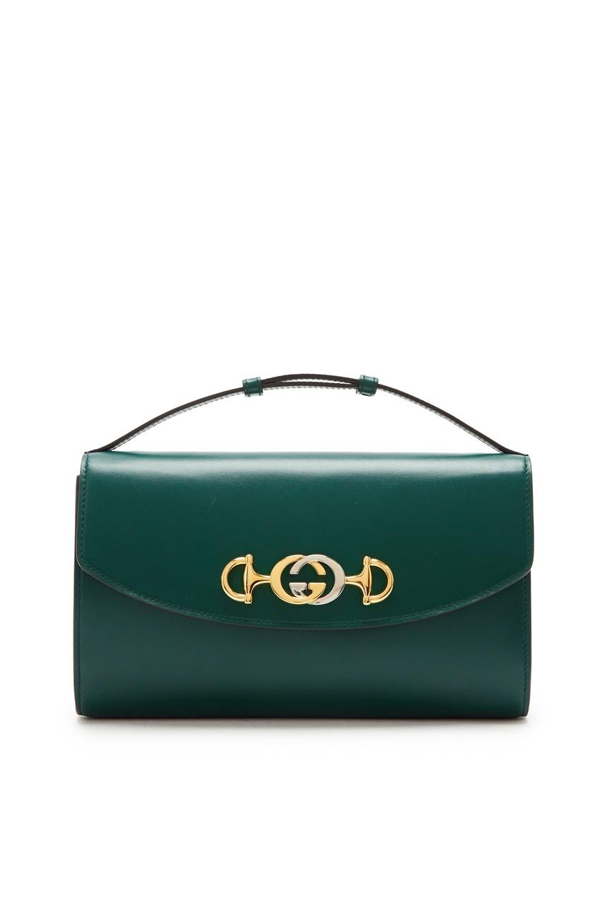 Купить Зеленая мини-сумка Zumi от Gucci зеленого цвета