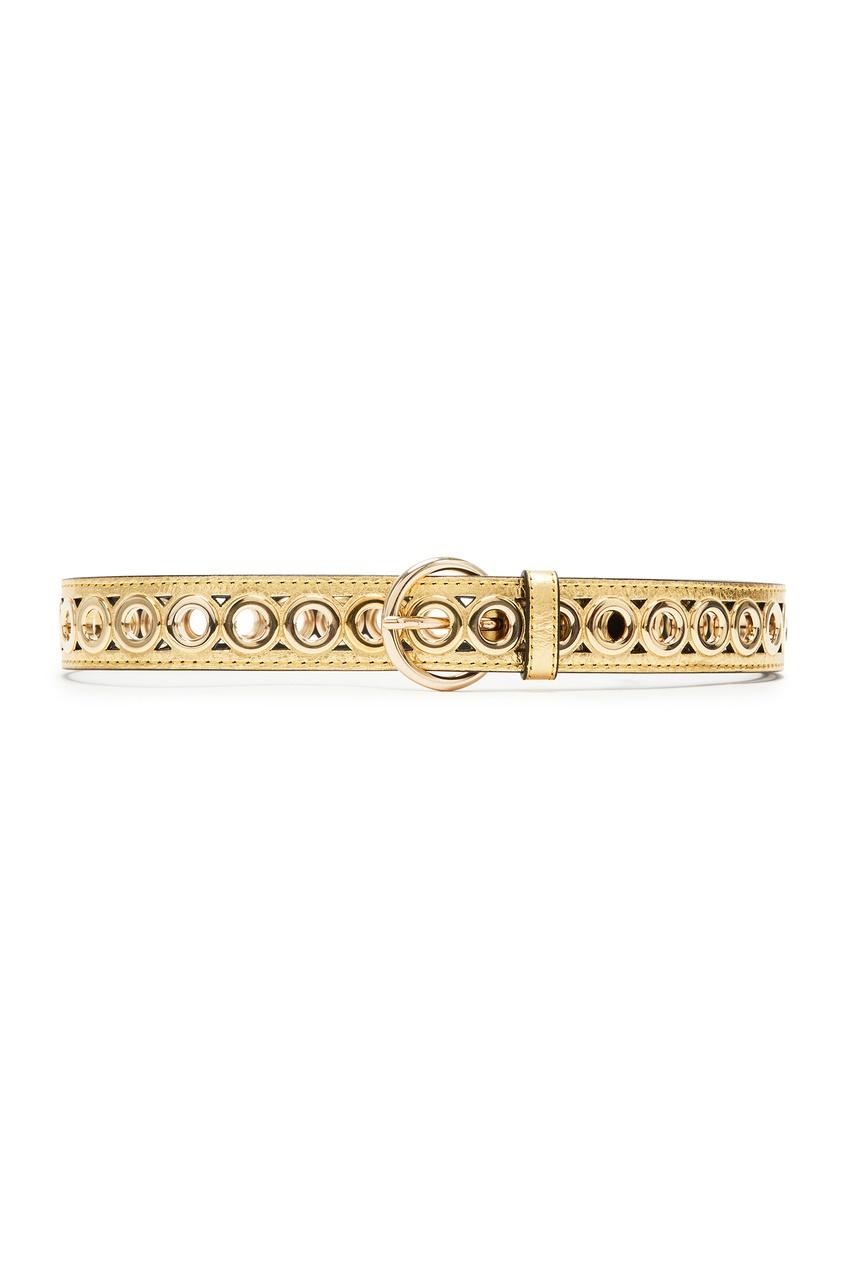 Купить Золотистый ремень с отверстиями от Sandro золотого цвета