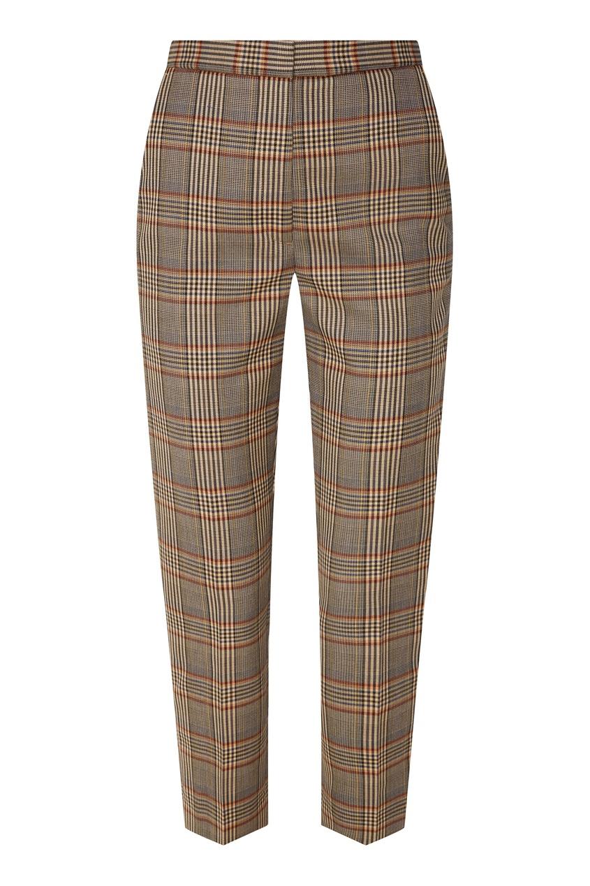 Купить Укороченные прямые брюки в клетку от Sandro цвет multicolor