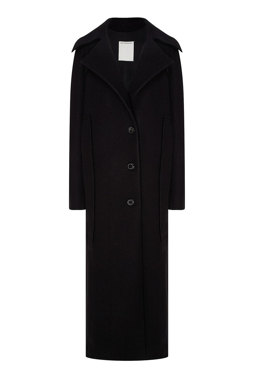 Купить Черное шерстяное пальто от Color°Temperature черного цвета