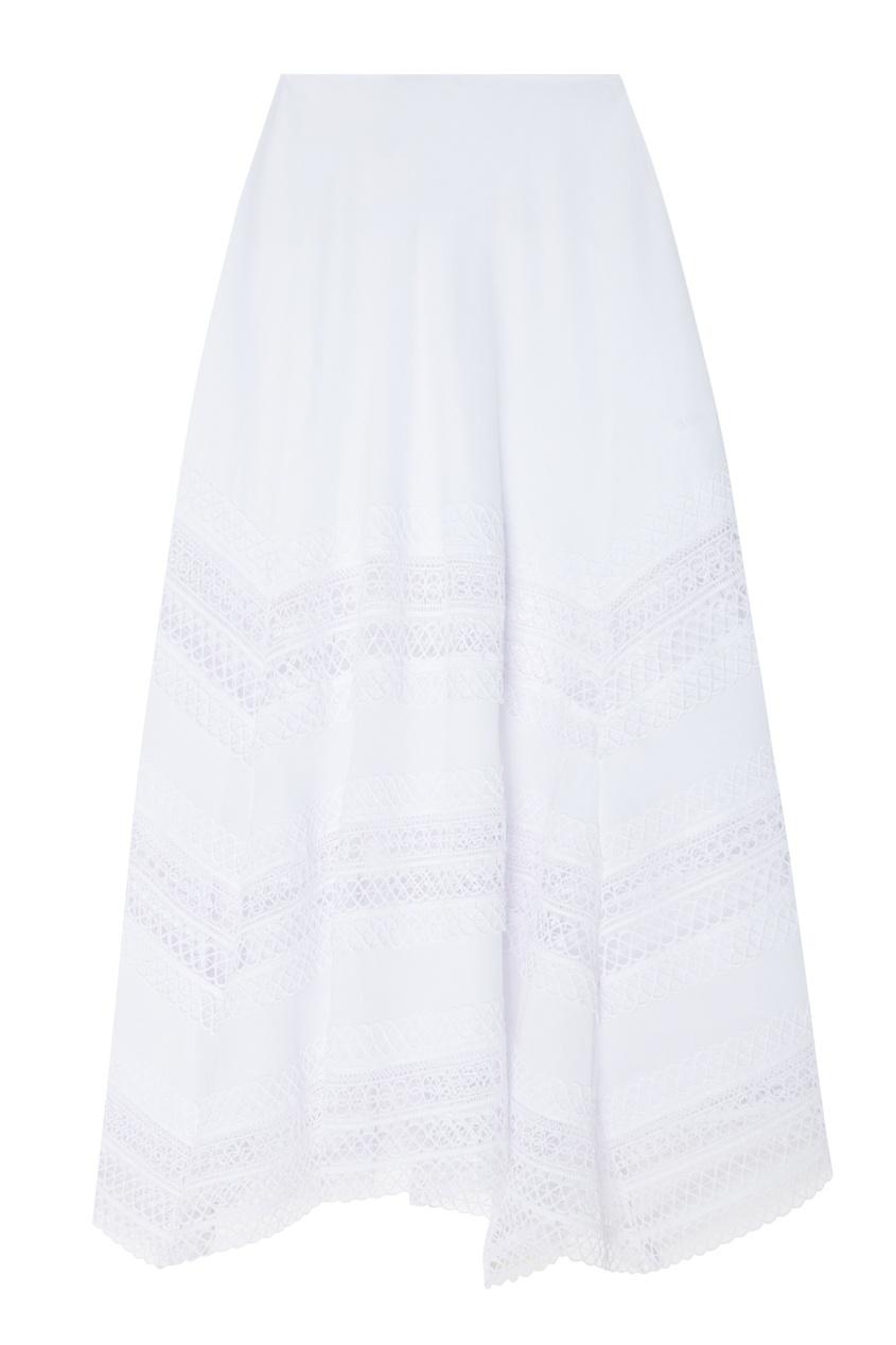 Купить Белая юбка макси Benna от Charo Ruiz белого цвета
