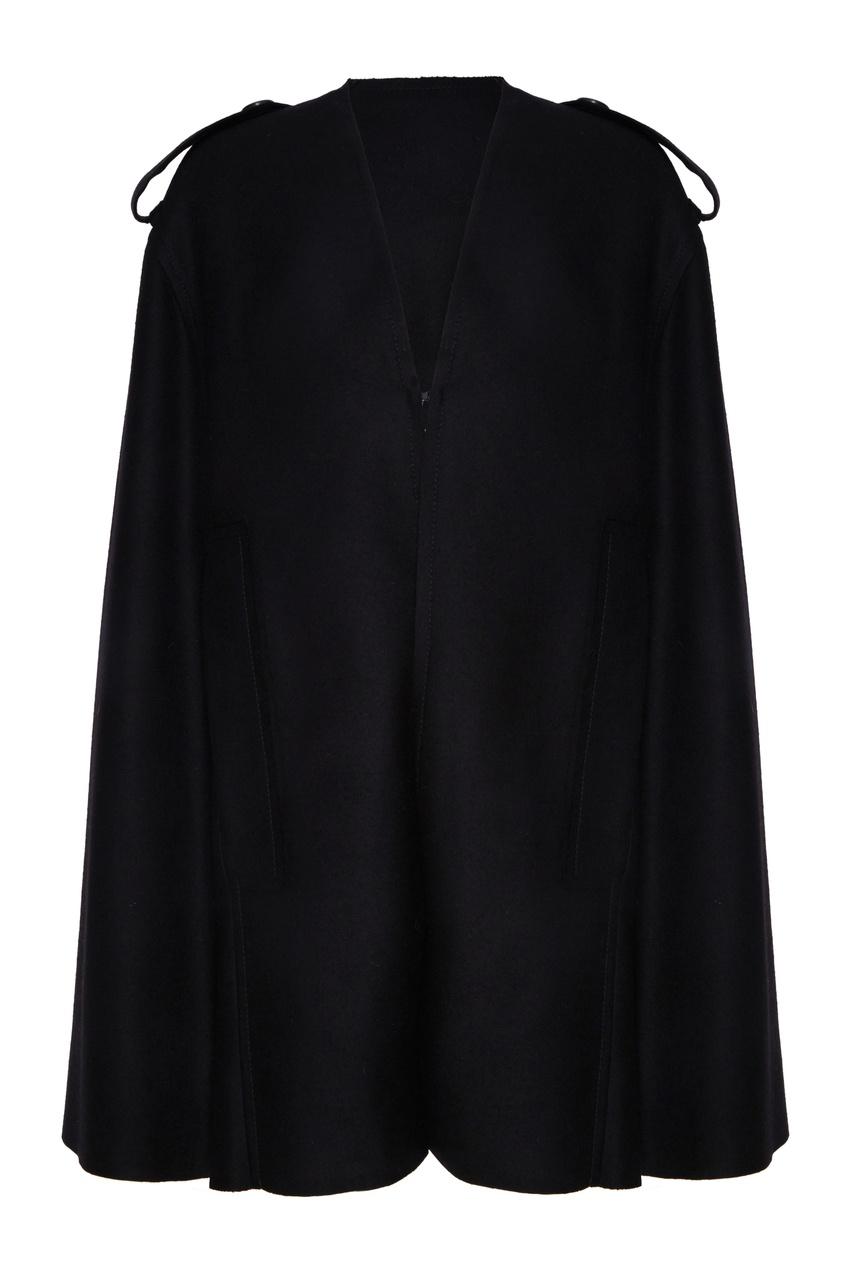 Купить Черная накидка с мехом от Color°Temperature черного цвета