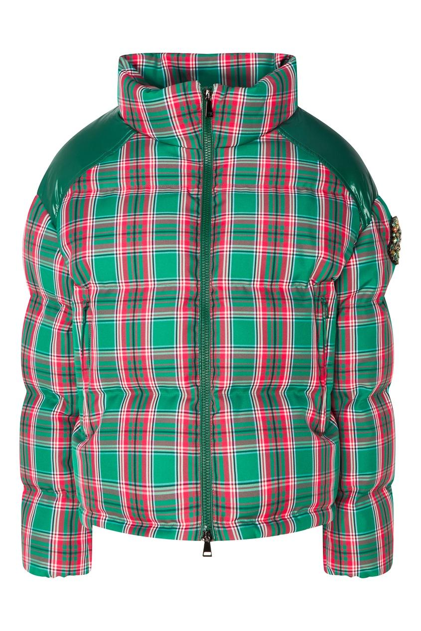 женская куртка moncler, зеленая