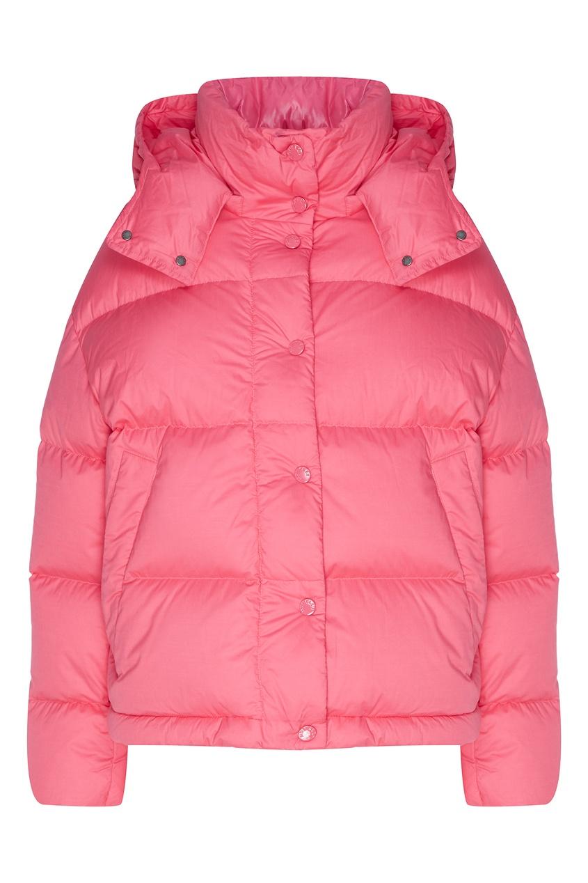 Розовая куртка с капюшоном от Moncler
