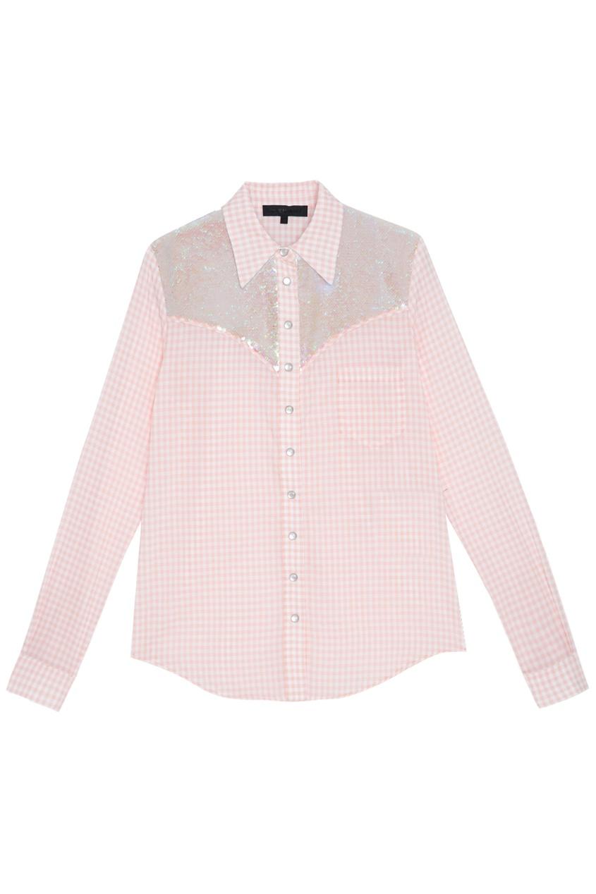 Хлопковая рубашка American Retro 30614743 розовый фото