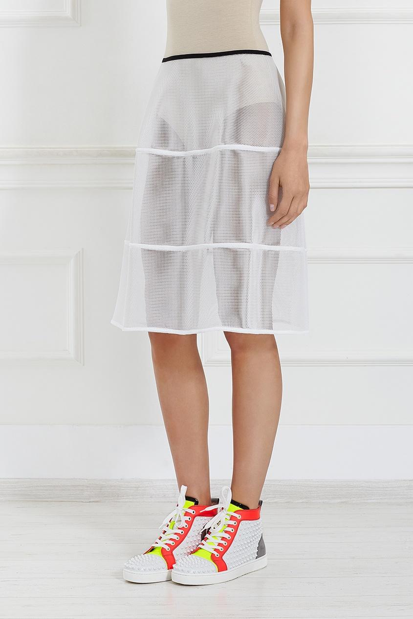 Прозрачная юбка.