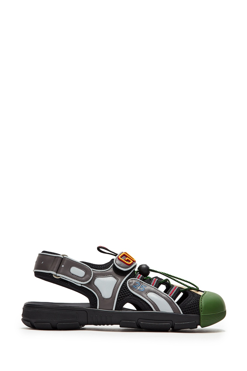 мужские сандалии gucci man, серые