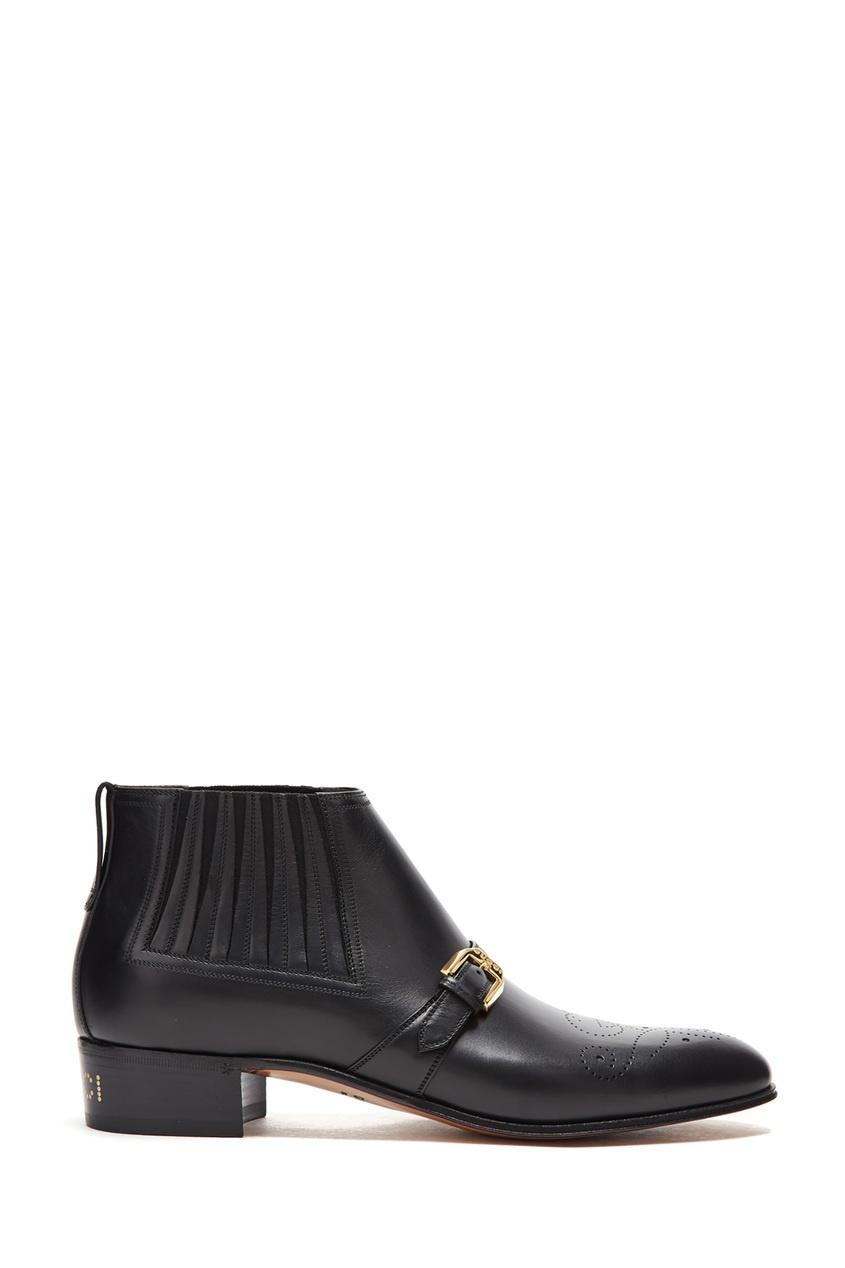 мужские ботинки gucci man, черные