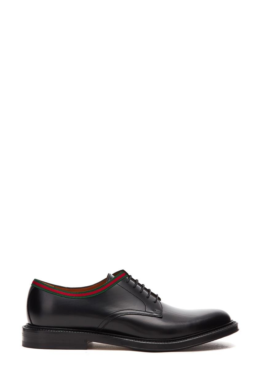 мужские туфли gucci man, черные