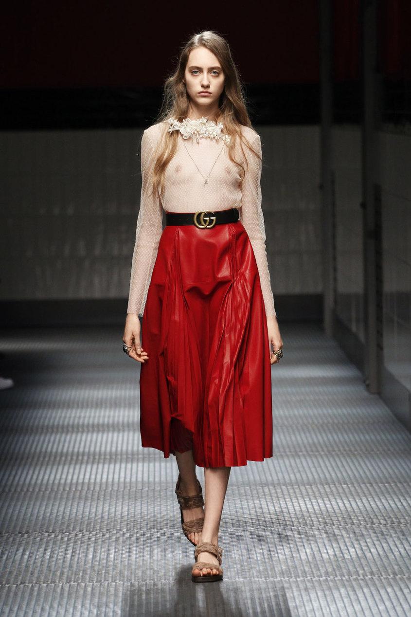 Gucci Кожаная юбка