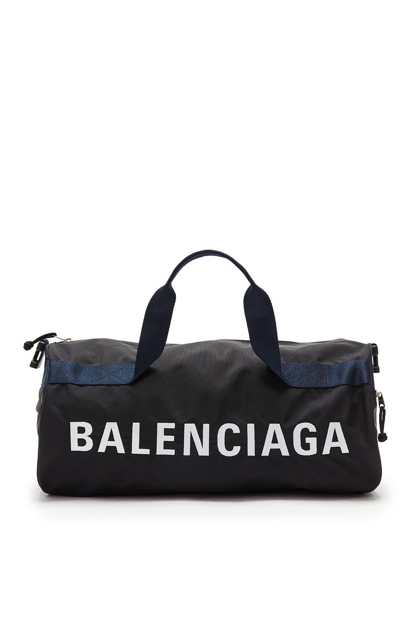 мужская спортивные сумка balenciaga man, черная