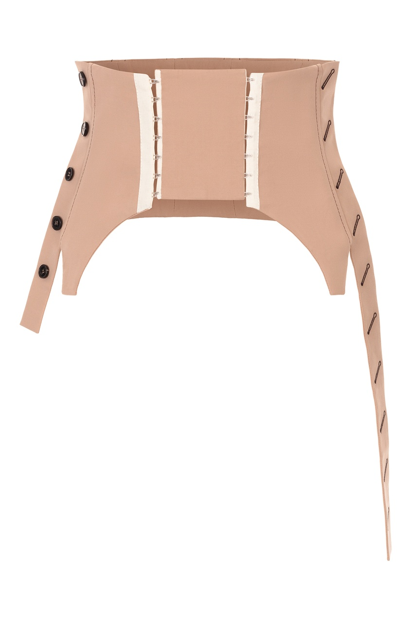 Бежевый твиловый корсет