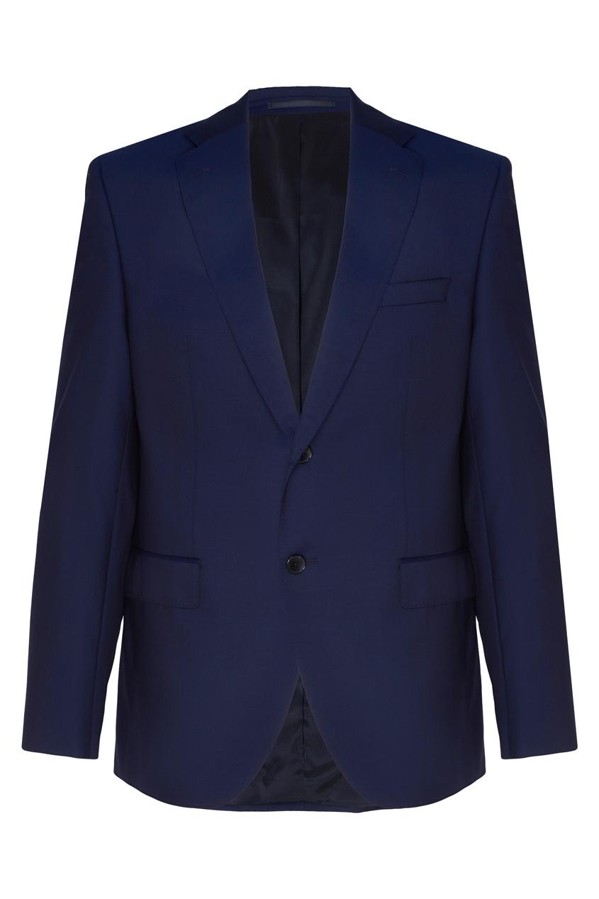 Темно-синий шерстяной костюм HUGO BOSS