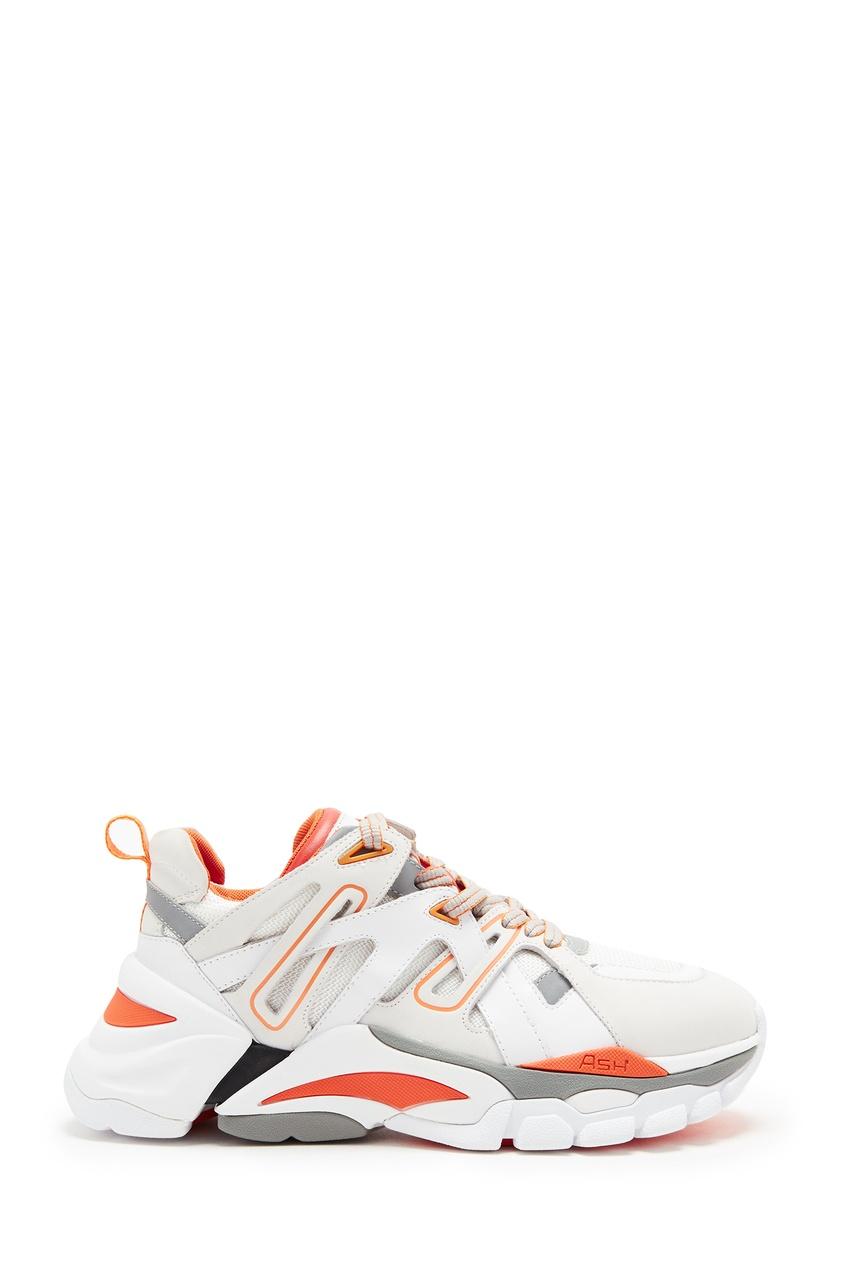 Бело-серые кроссовки Flash