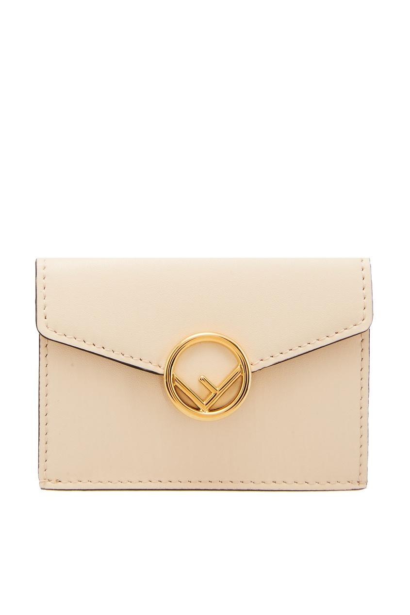 женский кошелёк fendi, белый
