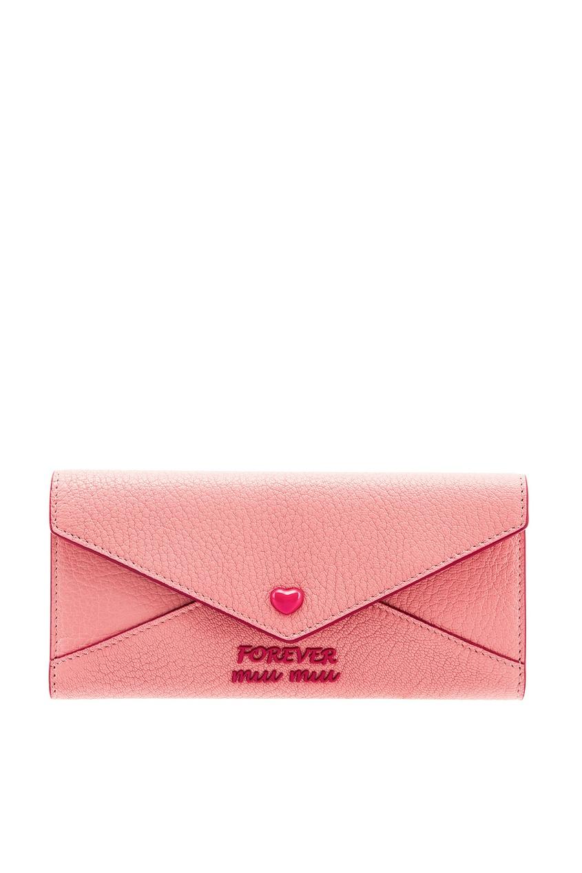 женский кошелёк miu miu, розовый