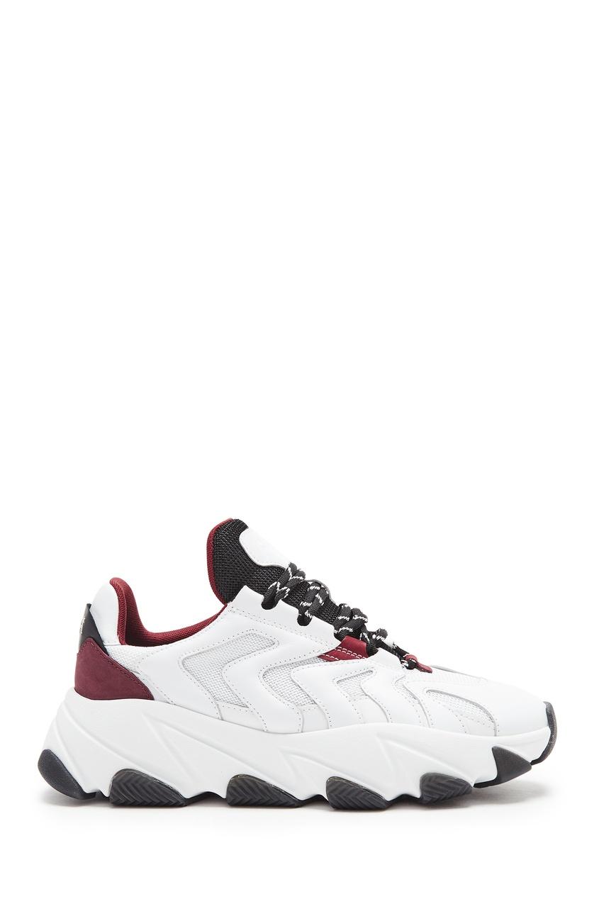Бело-бордовые кроссовки Extreme
