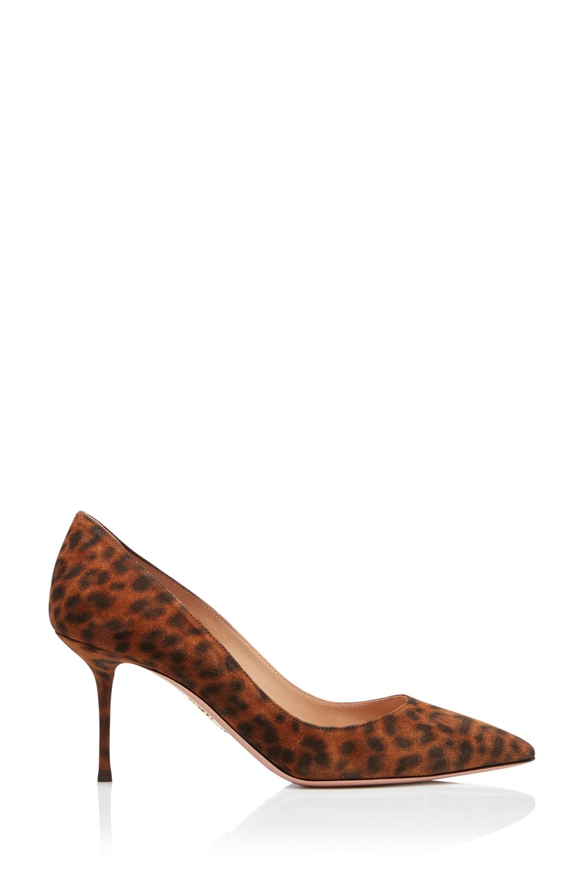 Туфли с анималистическим принтом Purist 75 Aquazzura