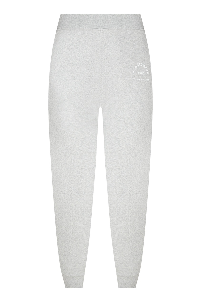 Серые брюки с логотипом от Karl Lagerfeld