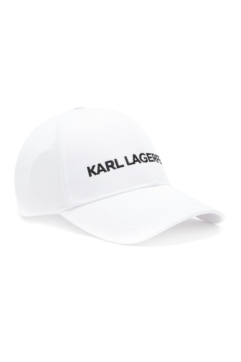 женская бейсболка karl lagerfeld, белая