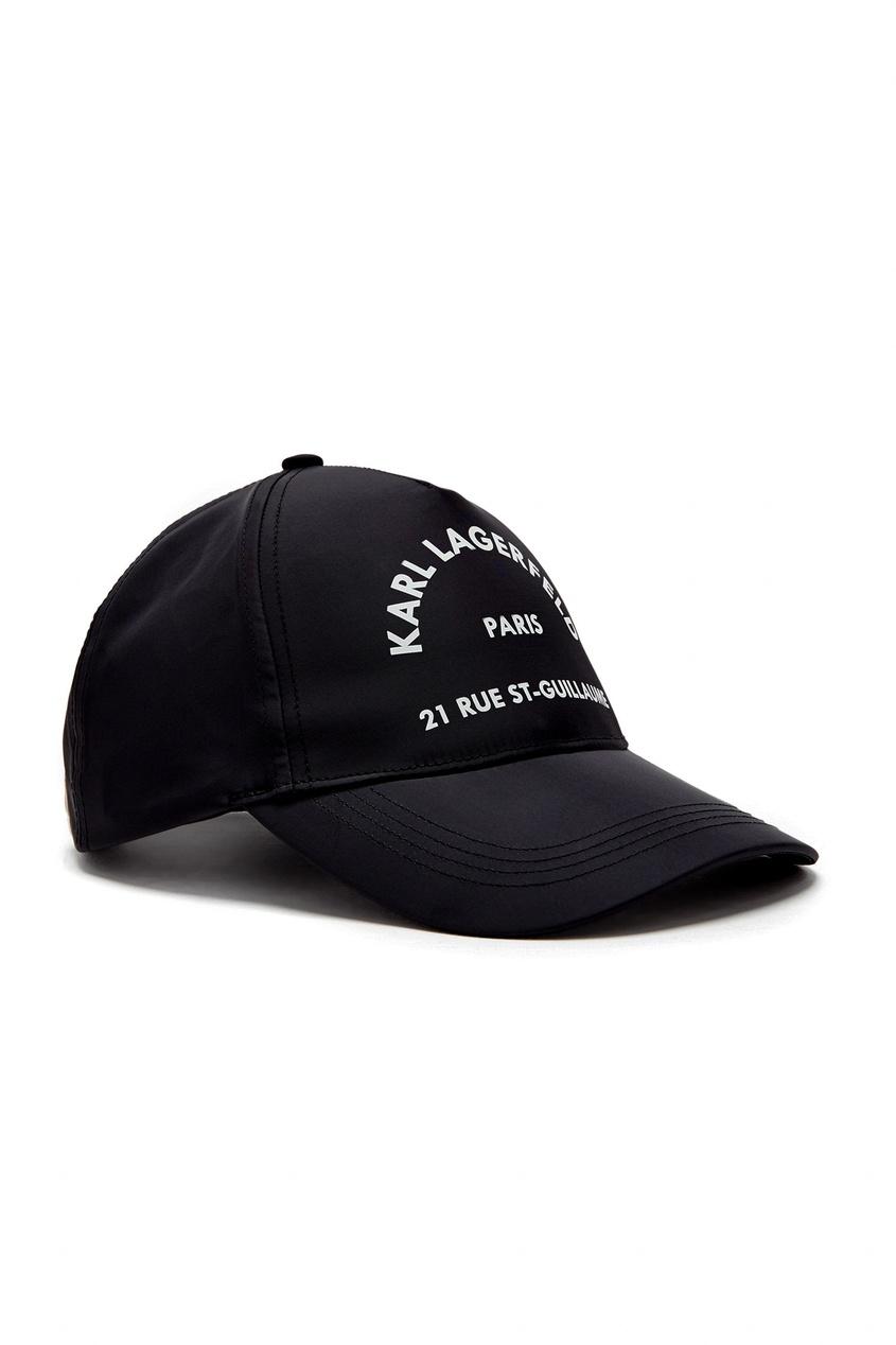 женская бейсболка karl lagerfeld, черная