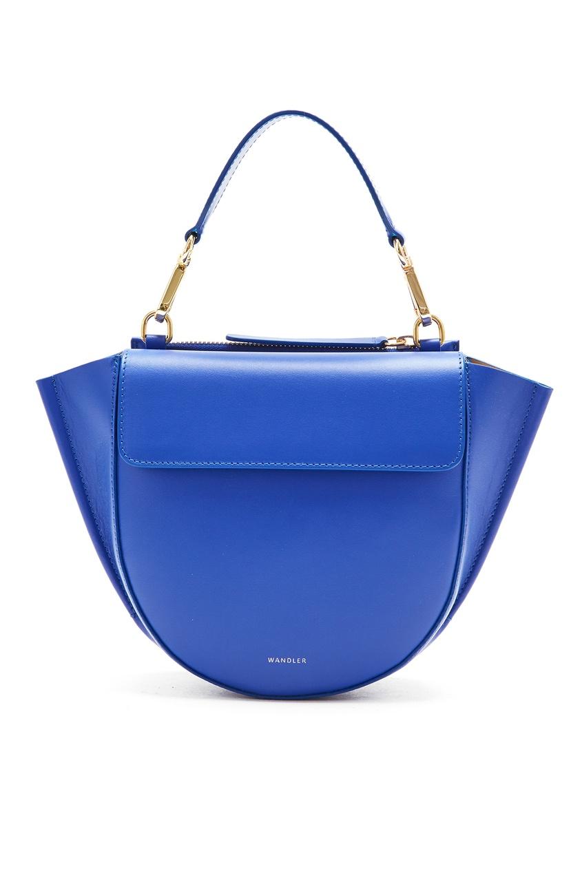 Синяя кожаная мини-сумка Hortensia Wandler