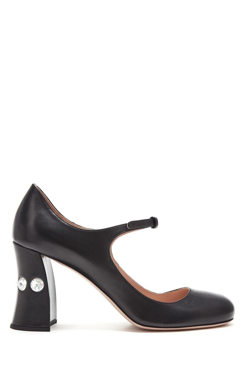 женские туфли miu miu, черные