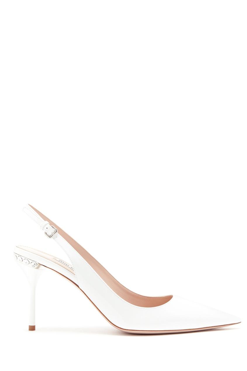 женские туфли miu miu, белые