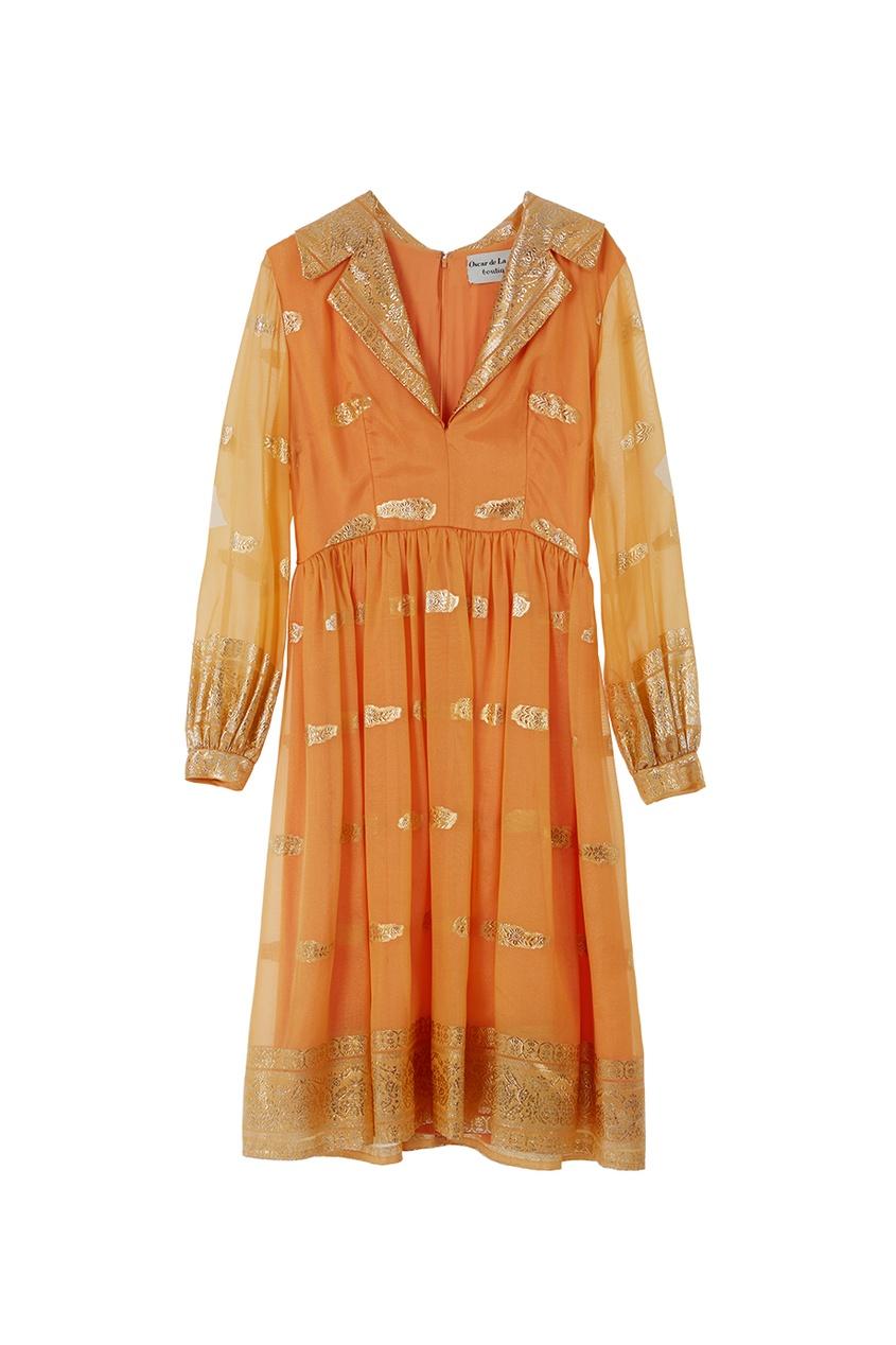 Платье из парчи и шелка