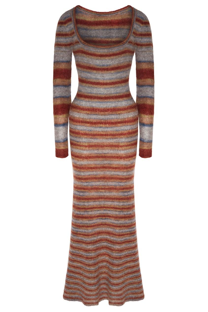 Вязаное платье макси Perou
