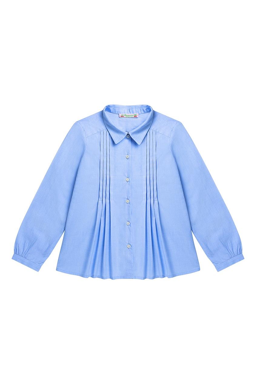 Голубая блузка со складками от Bonpoint