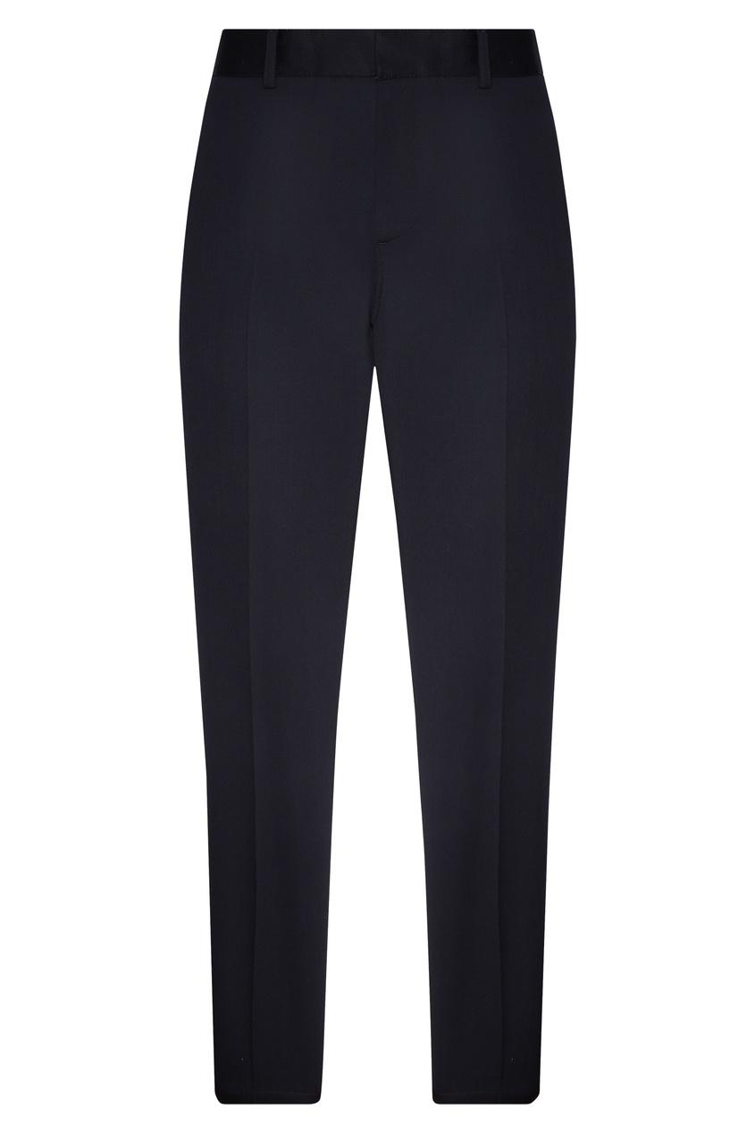Купить со скидкой Мужские темно-синие брюки