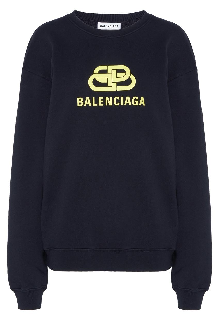 женский свитшот balenciaga, черный