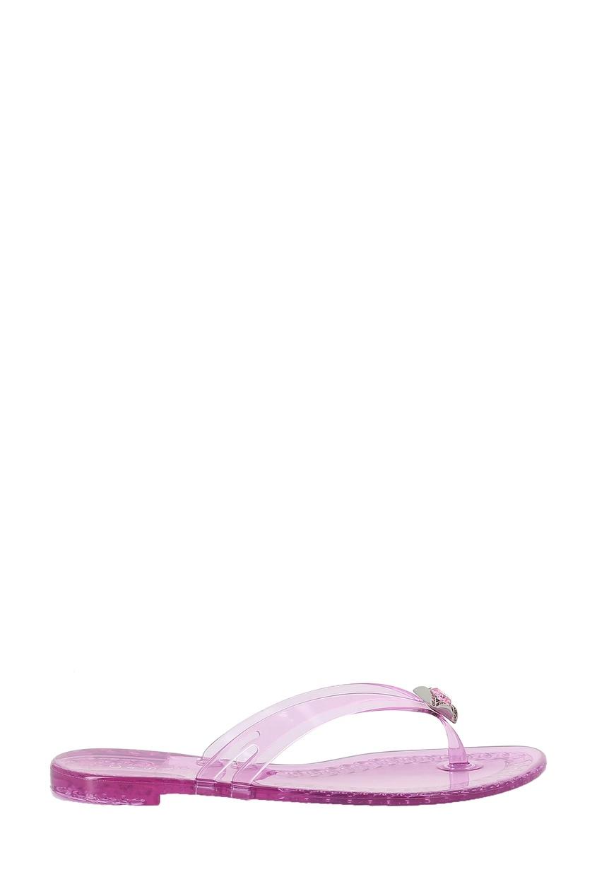 женские вьетнамки casadei, фиолетовые