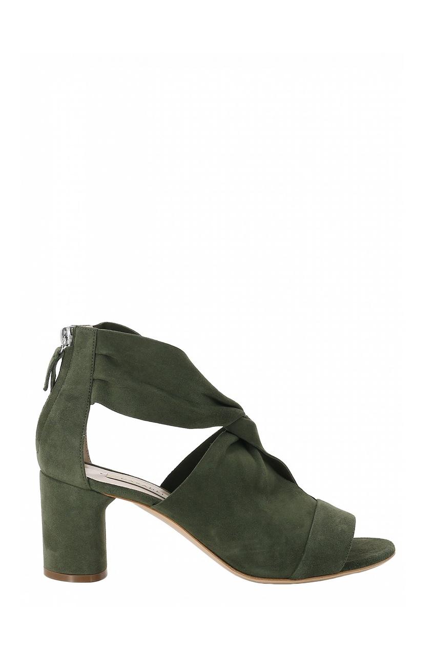 женские босоножки casadei, зеленые