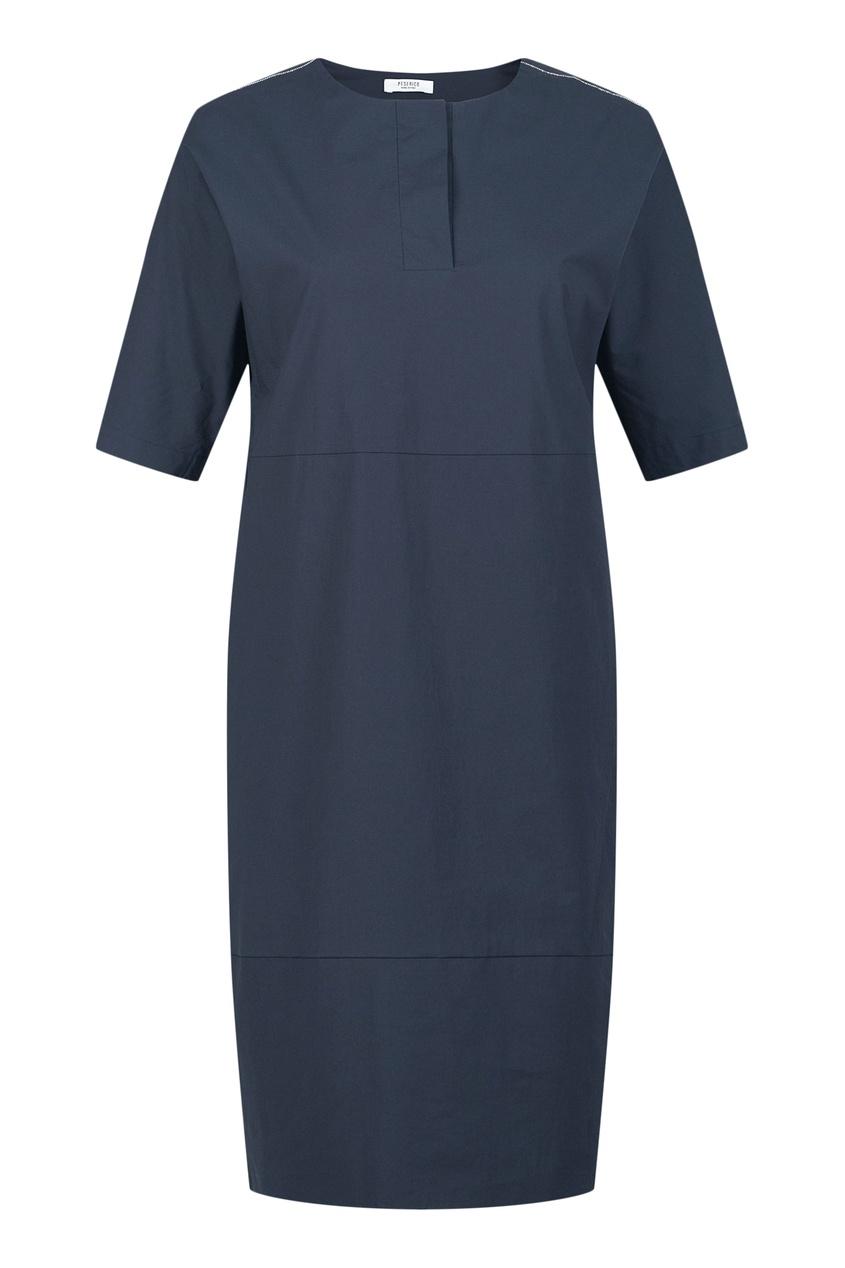 женское платье peserico, синее