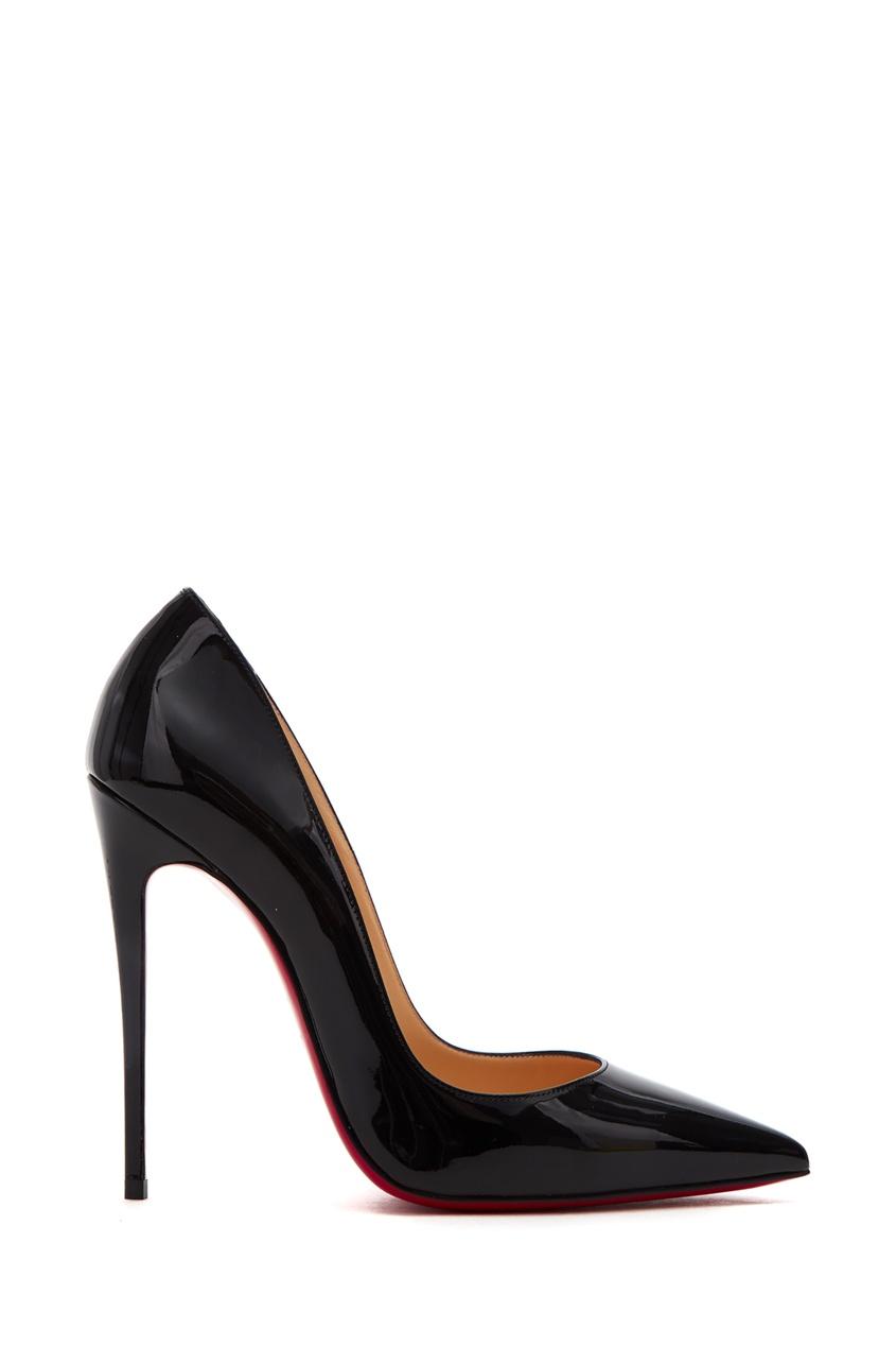 женские туфли christian louboutin, черные