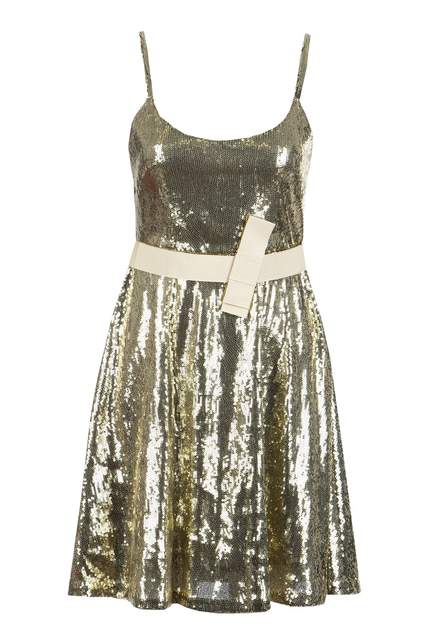 женское платье blugirl, желтое