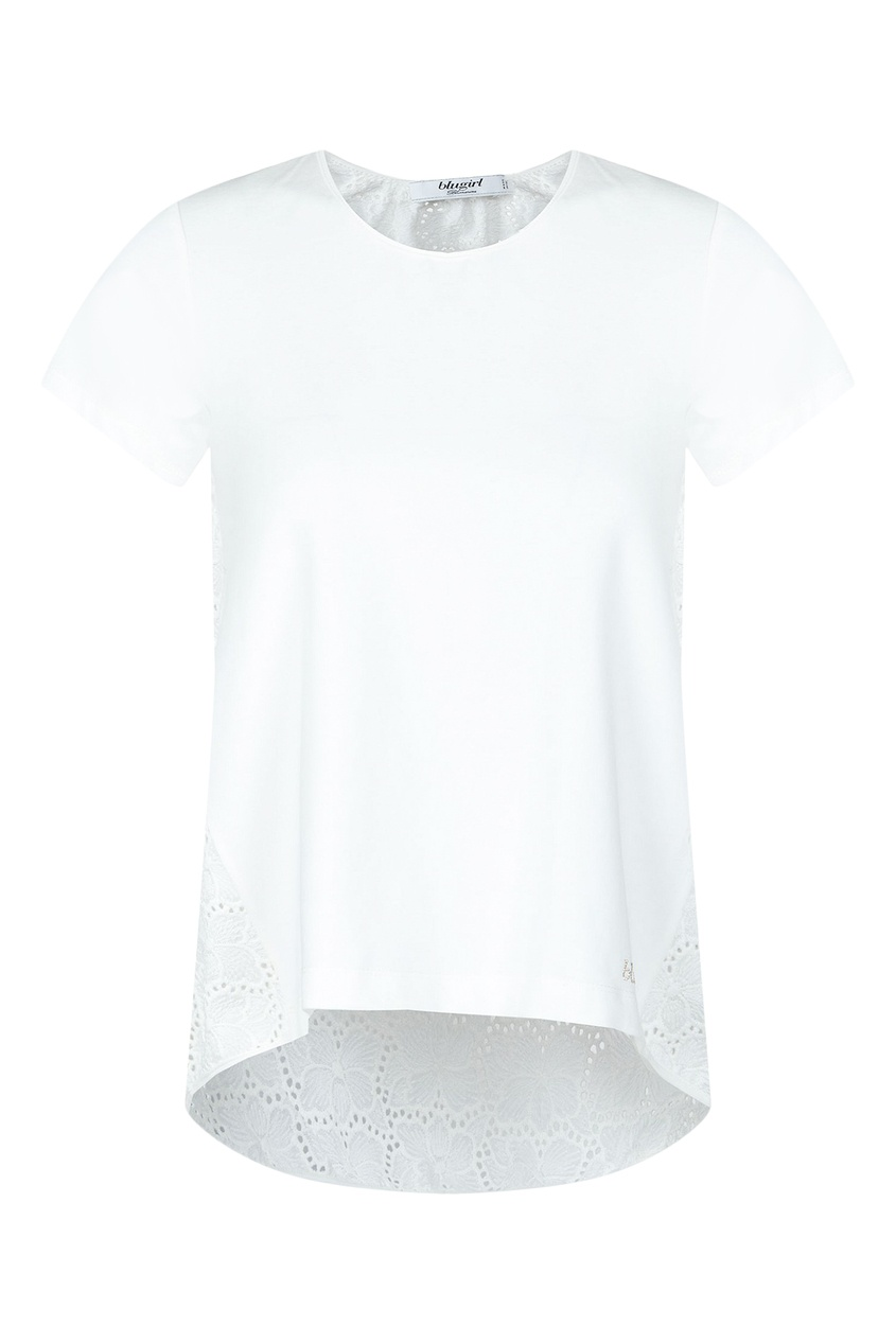 женская футболка blugirl, белая