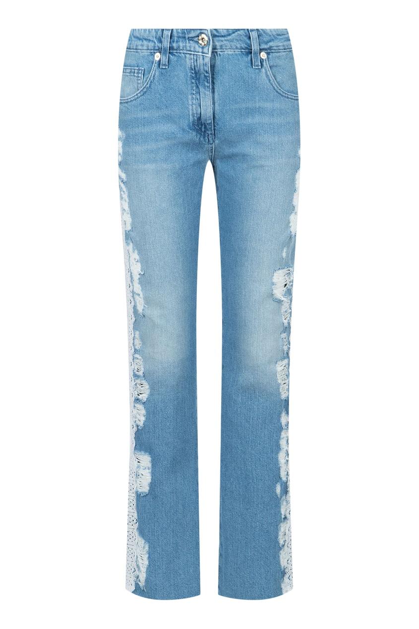 женские джинсы blumarine, голубые