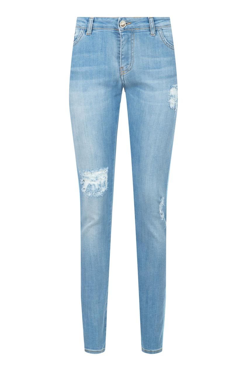 женские джинсы blugirl, голубые