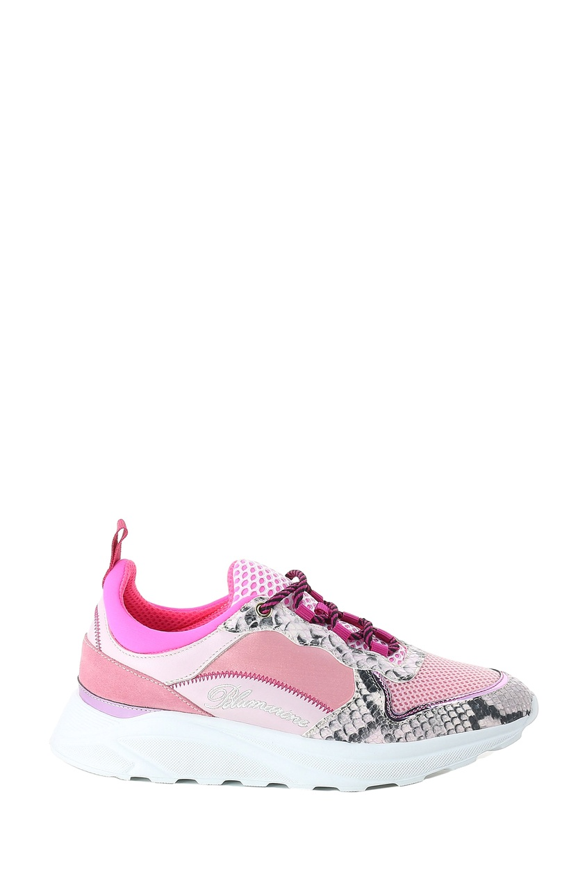 женские кроссовки blumarine, розовые