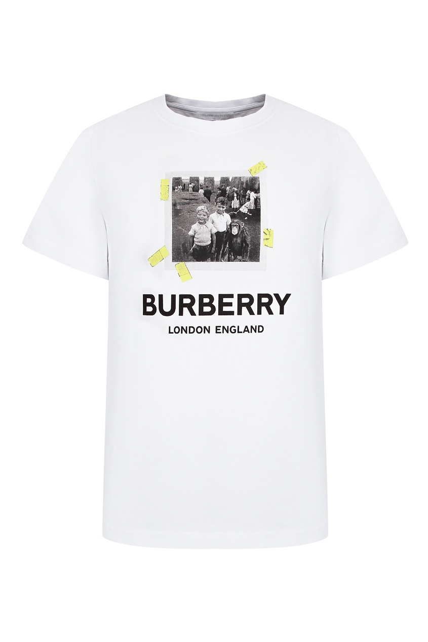 Футболка с принтом в виде фотографии Burberry Kids