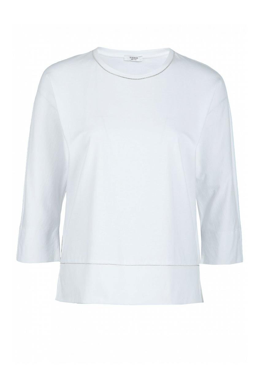 женская блузка peserico, белая