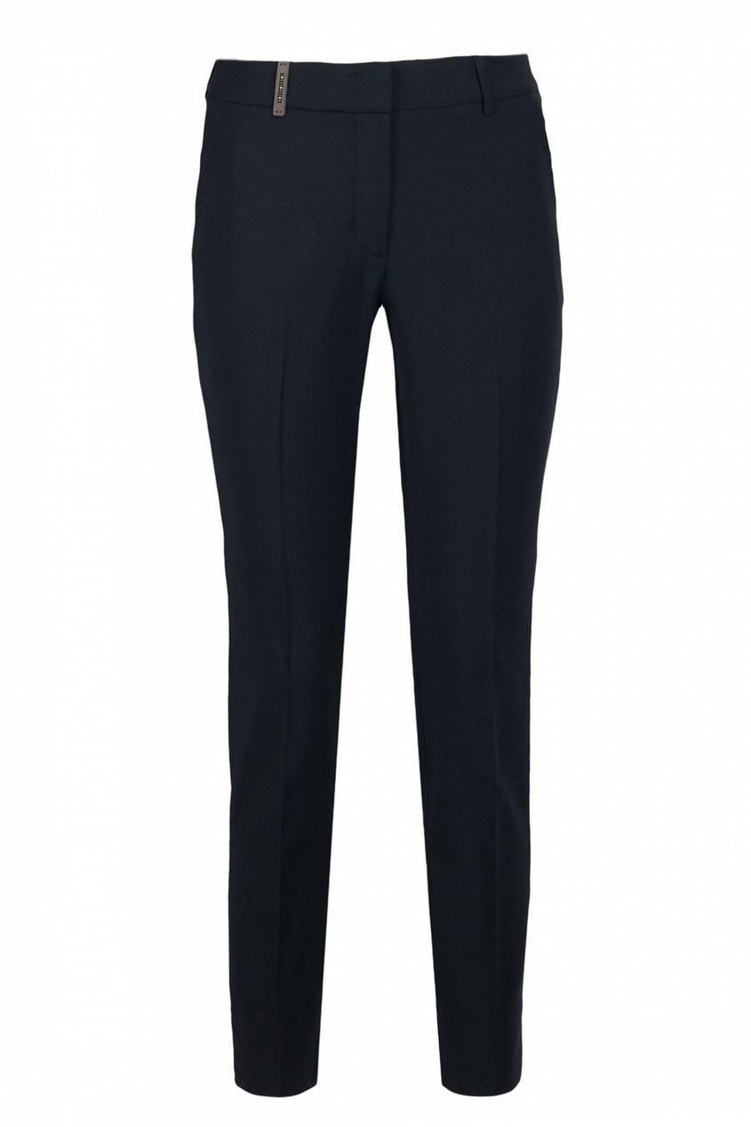 Черные узкие брюки от Peserico