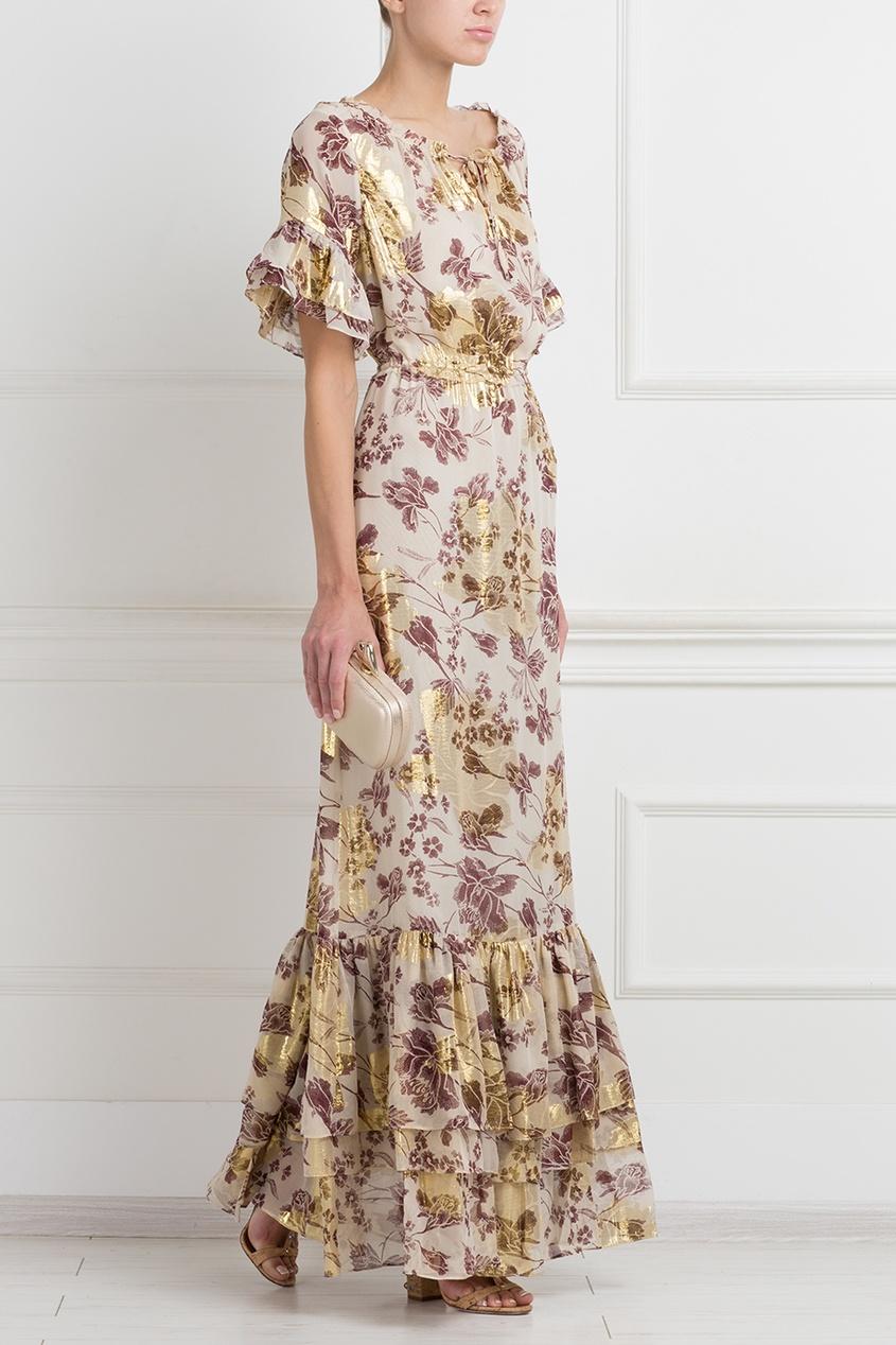 Шелковое платье DvF Jane Long